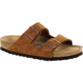 Birkenstock Arizona Soft Footbed Sandals Suede Leather mink